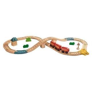 3-5Y NEW PlanToys Figure 8 Railway Wooden toys