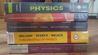 Pre-U textbook for A-level, Foundation, Form six (Physics, Chemistry, Microbiology)