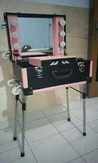 Beauty case kaki 6 lampu uk besar 50x35x23