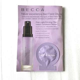 Authentic Becca First Light Priming Filter Makeup Primer Sample