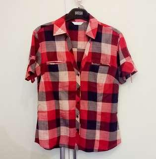 Promod Checkered Top