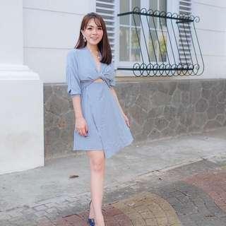 Dress Cewek Tumblr Terusan Biru Muda