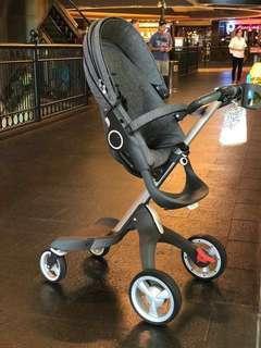 Travel System Stroller : Stokke Xplory Black Melange - super condition