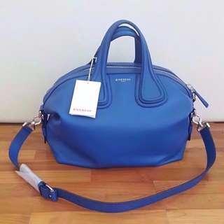 NEW Givenchy Women's Nightingale Medium Calfskin Leather Crossbody Bag (Colbalt Blue)