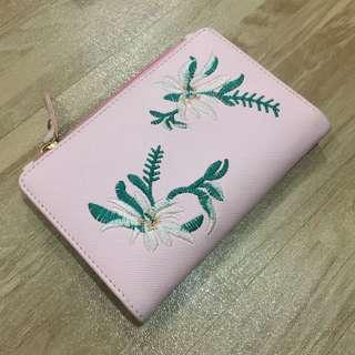 Embroider Pink Fold Wallet