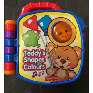 Fisher price electronic book teddy shape and color