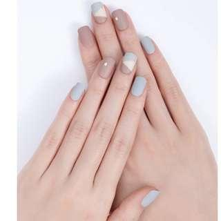 [FreeMail]Dashing diva Press on Manicure#Sand Grey(slim fit series)