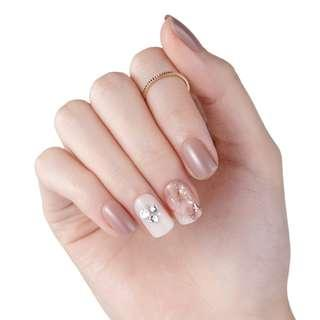 [FreeMail]Dashing diva Press on Manicure#Sensual Beige(slim fit series)