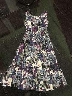Art Printed Maxi Dress