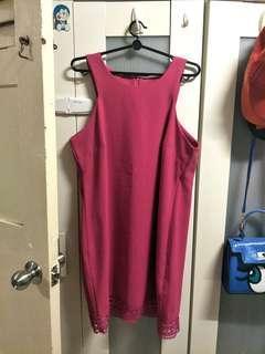 Plus Size Fusion Pink Dress