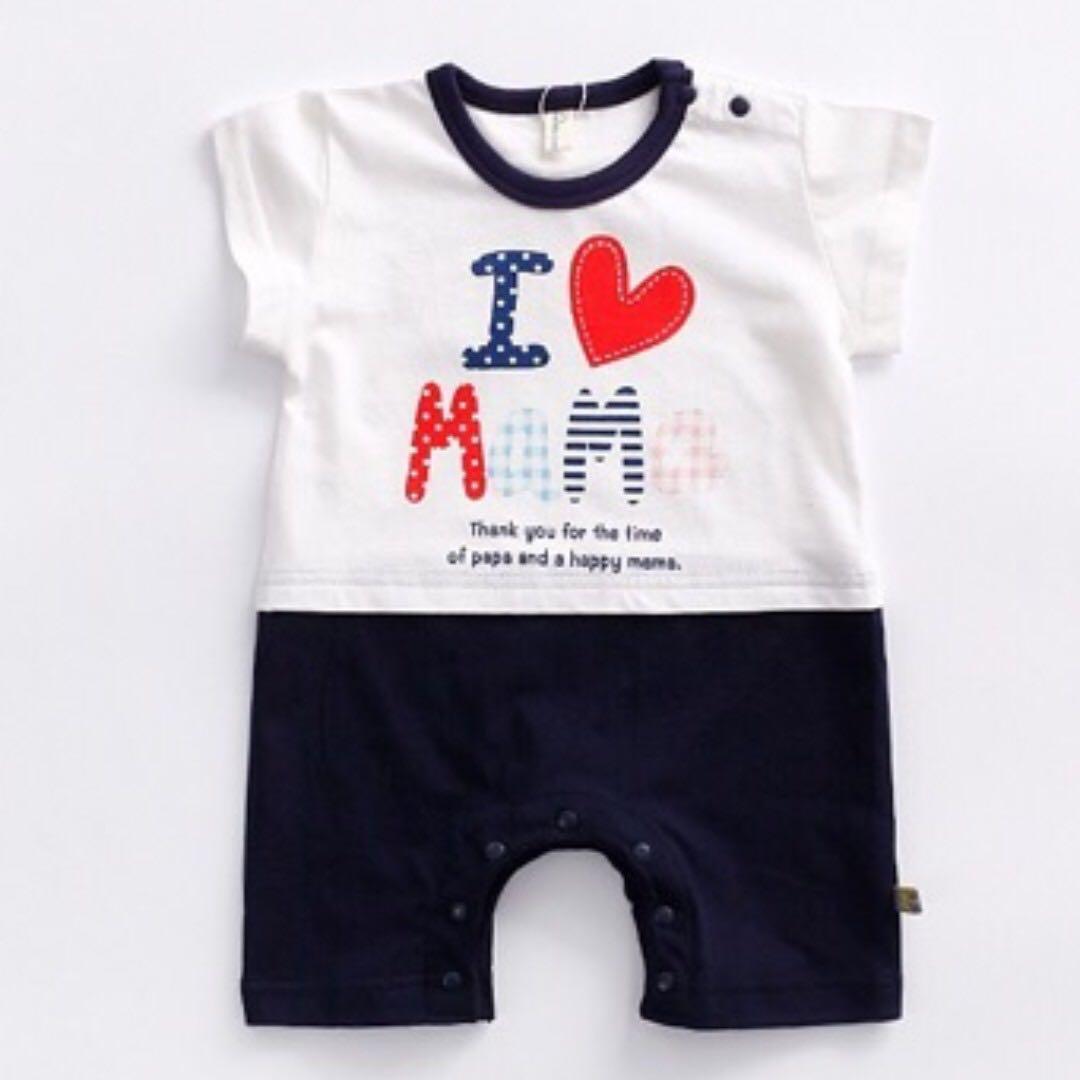 e4944f4b4 20% OFF NOV SALES !!!! I LOVE PAPA & I LOVE MAMA Jumpsuit for Baby ...