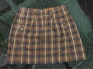 Zara Checkered Skirt