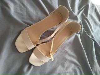 Korean High Heels Block Heels 2 inch