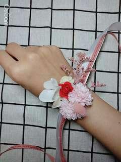 🚚 婚禮手腕花(乾燥花+仿真花