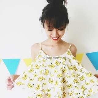 Banana Spag Cami Top