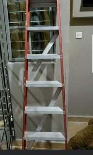 Preloved single sided 6 step aluminum ladder