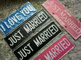 Plate Just Married Wall Deco