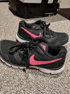 Nike pink and black sneakers