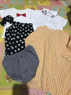5 pieces 3~4t clothes
