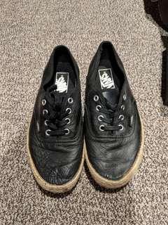 Leather look Vans