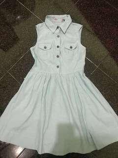 Denim Chambray Sleeveless Dress