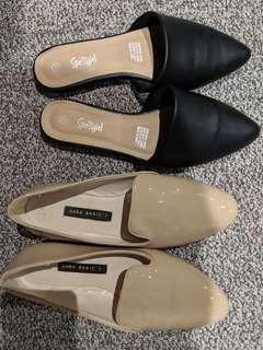 Work shoes Zara and Sportgirl