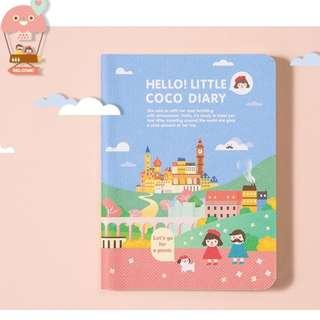 PO Round Edges Cute Little Coco Graphic 2019 Planner Note Book Notebooks Journal 4 Designs