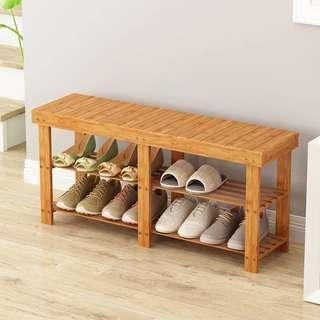 🚚 Solid bamboo Shoe Rack