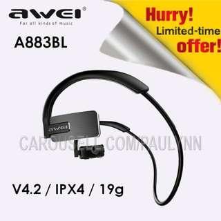 NEW ARRIVAL! Awei A883BL Bluetooth Earphone Wireless Sports Headset