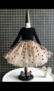 Black star glamour dress (party/ Christmas)