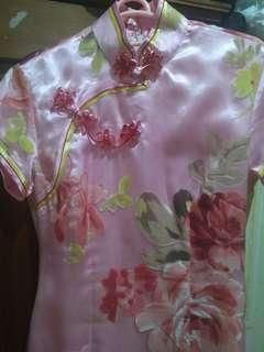 #yukjualan dress cheongsam pink flowers