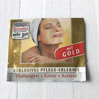 Authentic Schaebens Germany Luxury Gold Face Mask with Real Gold, Champagne, Caviar, and Oyster Extracts