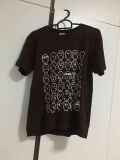 Preloved brown cartoon print t shirt ladies