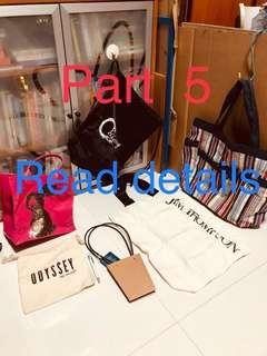 Part 5 new tote bags new drawstring new recycling  bag