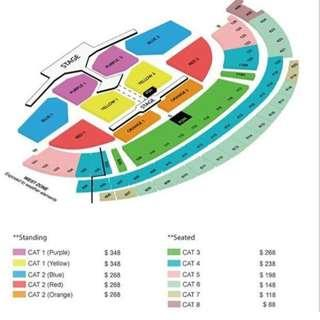 bts concert ly tickets cat 2 red 1 singapore