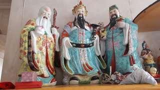 5Ocm高福祿壽陶像