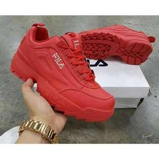 Fila shoes for women red size 36-40