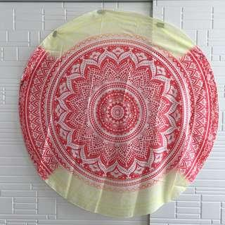 Round Tapestry Mat and Fairy Lights Set