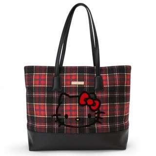 767b744f9320  PO  Sanrio Japan Hello Kitty Tartan Tote Bag with Pouch