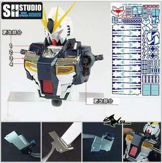 Pre Order SH Studio Nu Gundam Etching parts