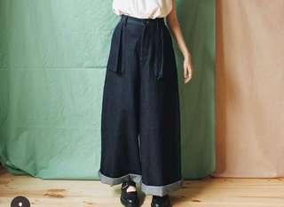 aroommodel自製 大口袋寬褲