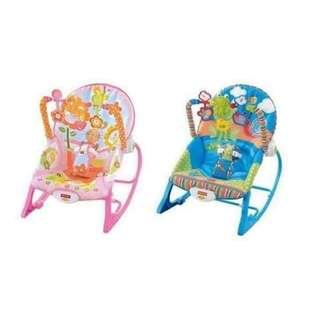 Infant to toddler rocker chair with toys