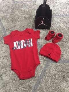 Rush Sale!!! Original Jordan onesie + Socks+ Bonnet + lootbox for baby boy
