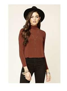 F21 mock neck top small