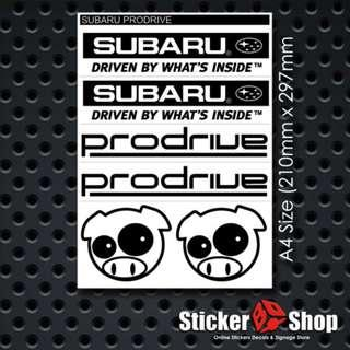 Subaru Prodrive Sticker Set