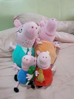 Peppa pig family soft toy