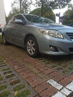 Toyota Altis Fleet available for rental and leasing
