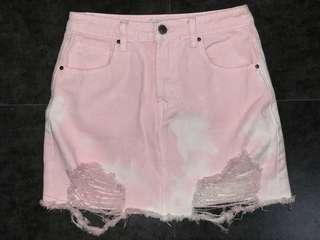 F21 Ripped Skirt