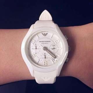 Emporio Armani White Ceramica Watch