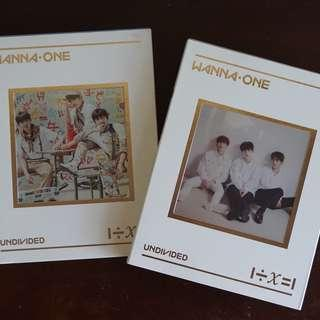 wanna one - undivided albums (triple position + lean on me)